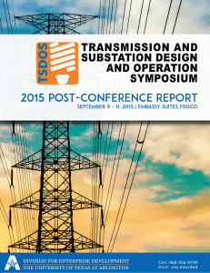 2015 post-conference report - The University of Texas at Arlington