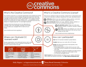 What is the Creative Commons? What is a Creative Commons