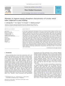 Attempts to improve energy absorption characteristics of circular