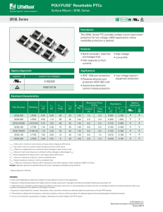 POLY-FUSE® Resettable PTCs 2016L Series