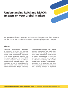Understand RoHS and REACH: Impacts on your