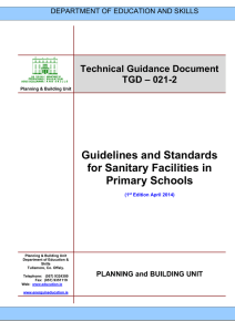 TGD-021-2 - Guidelines and Standards for Sanitary Facilities in