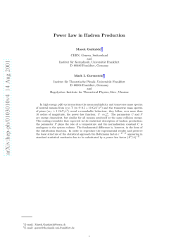 Power Law in Hadron Production