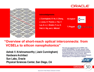 Overview of silicon photonic technologies, from VCSELs
