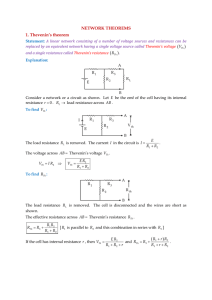 NETWORK THEOREMS 1. Thevenin`s theorem