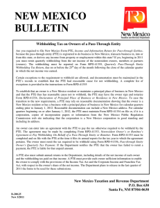 Bulletin B-200.25 - New Mexico Tax Research Institute