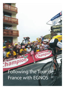 Following the Tour de France with EGNOS