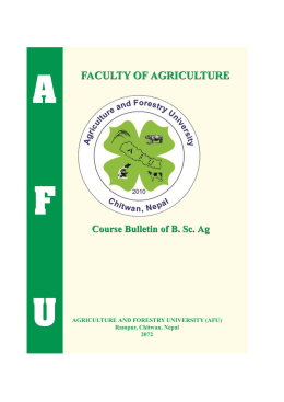 B.Sc. Ag. Bulletin - Agriculture and Forestry University