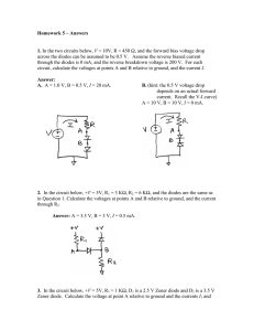 Homework 5 – Answers 1. In the two circuits below, V = 10V, R