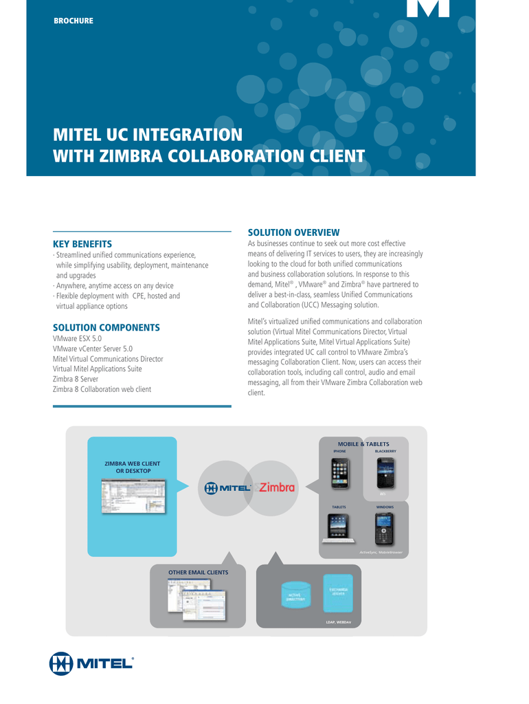 MitEl UC intEgRatiOn witH ZiMBRa COllaBORatiOn CliEnt