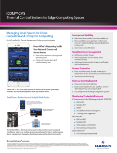 iCOM™ CMS Thermal Control System for Edge Computing Spaces