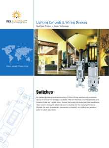 Switches - Ion Lighting