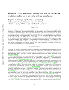 Bayesian co-estimation of selfing rate and locus