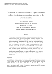 Generalized elimination inferences, higher-level rules