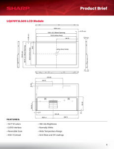 LQ070Y3LG05 Product Brief - Sharp Microelectronics of the