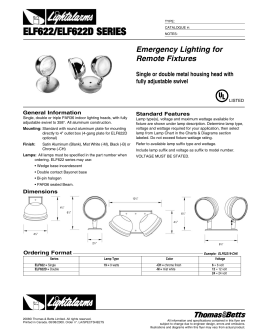 Emergency Lighting For Remote Fixtures