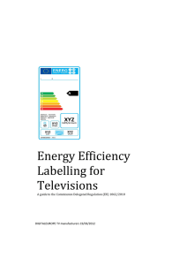 Energy Efficiency Labelling for Televisions