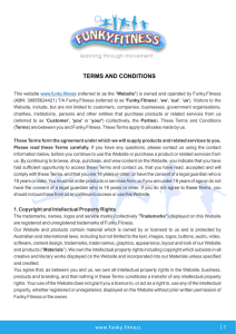 Funky Fitness - Terms and Conditions 201601