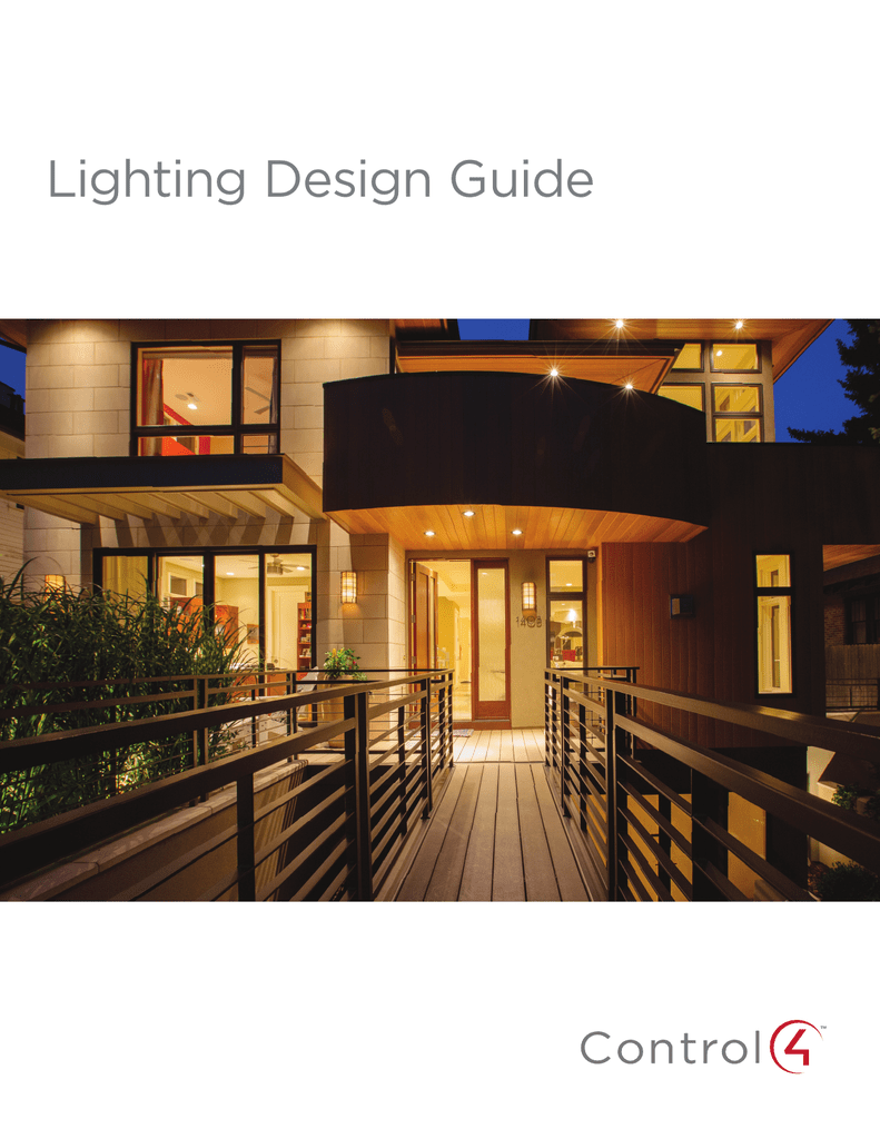 Control4 Lighting Design Guide