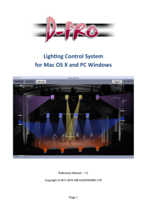 Lighting Control System for Mac OS X and PC Windows