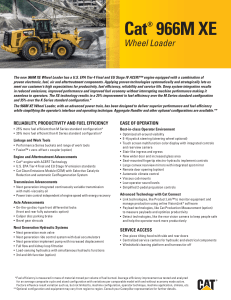 Key Features and Benefits Brochure for Cat 966M XE
