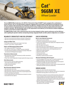 Key Features for Cat 966M XE Wheel Loader, AEXQ0994
