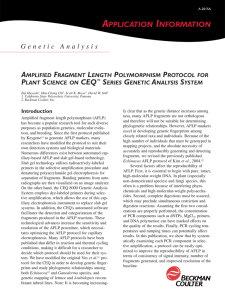 AFLP Protocol For Plant Science on CEQ Series