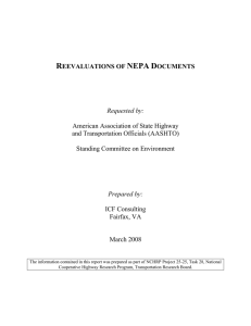 Reevaluations of NEPA Documents