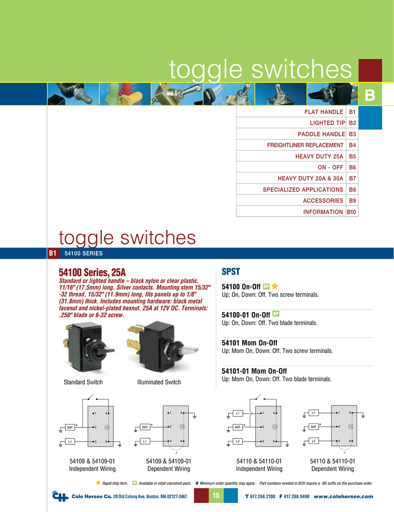 cole hersee trailer wiring diagram toggle switches  toggle switches
