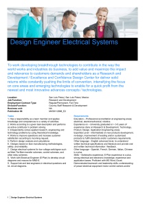 Design Engineer Electrical Systems