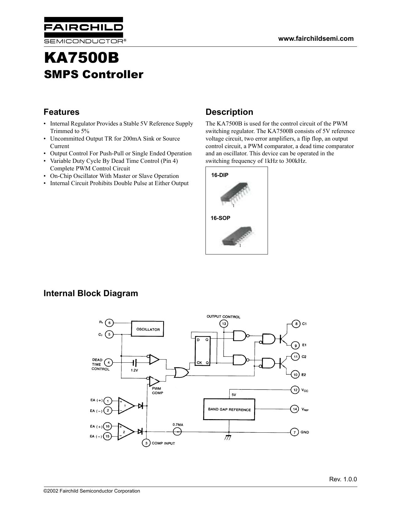 Ka7500b Smps Controller Pwm Amplifier Circuit 018530798 1 D16efa46c12acee44add6f59a431cc8b