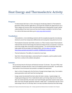 Heat Energy and Thermoelectric Activity