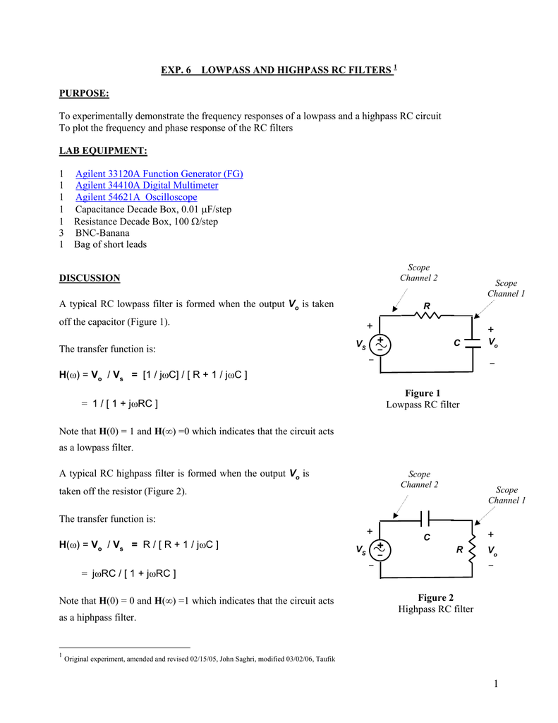 To Fully Illustrate The Transfer Of Energy Back And Forth From A Low Pass Rc Filter Diagram