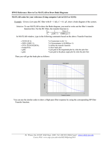 HW#3 Reference: How to Use MATLAB to Draw Bode Diagrams