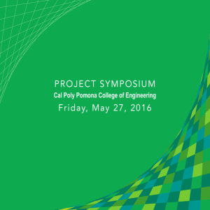 PROJECT SYMPOSIUM Friday, May 27, 2016