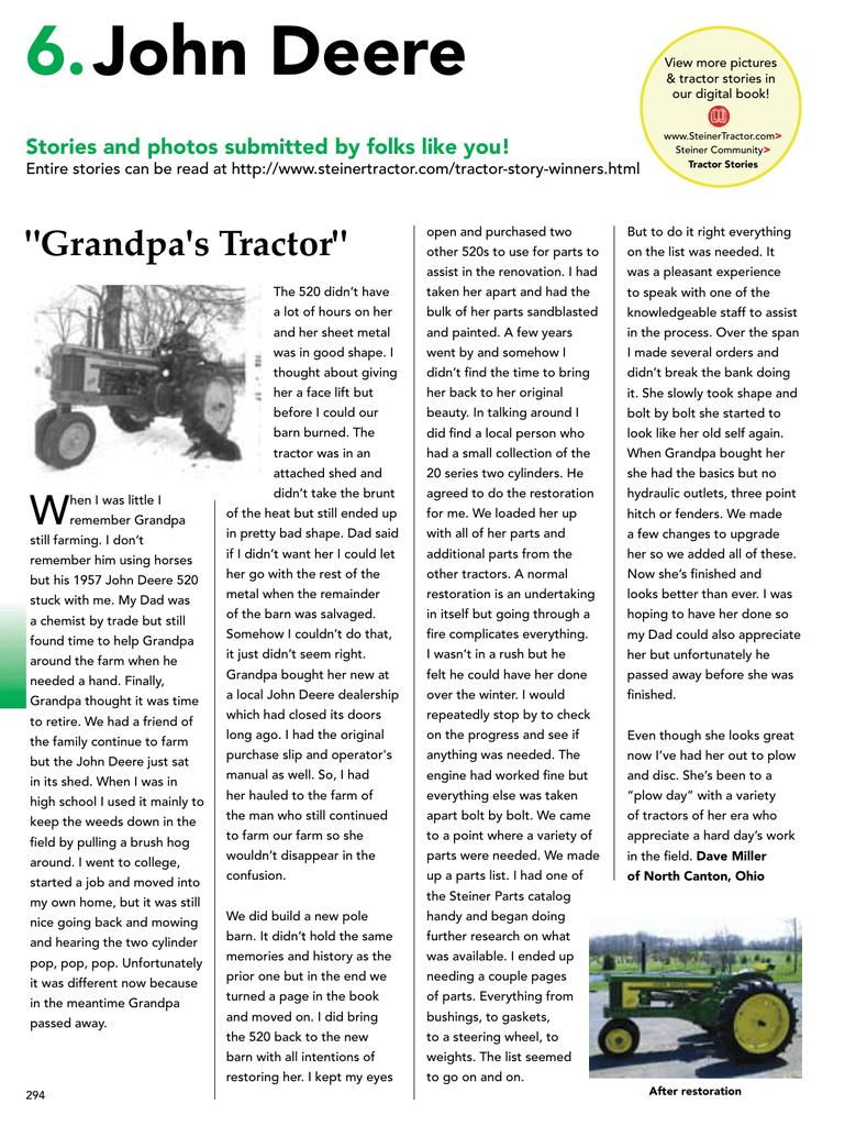 6 John Deere - Steiner Tractor Parts