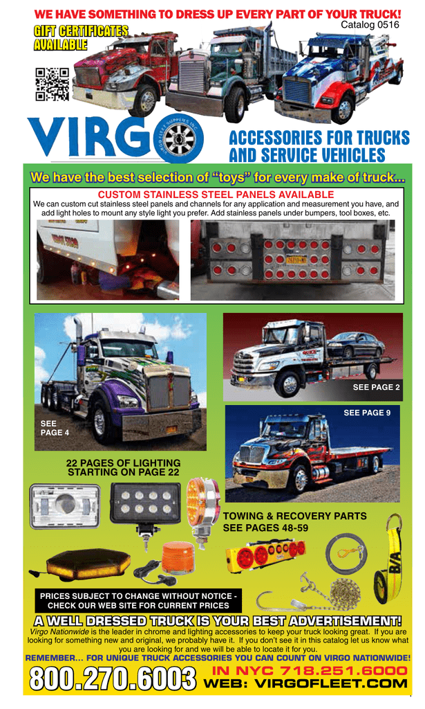 accessories for trucks and service vehicles on
