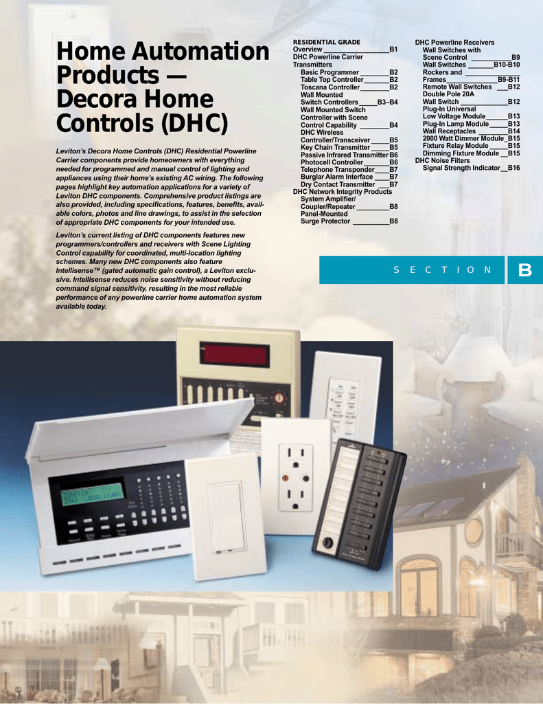 Home Automation Products — Decora Home Controls (DHC)