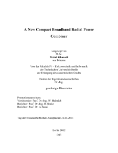 A New Compact Broadband Radial Power Combiner