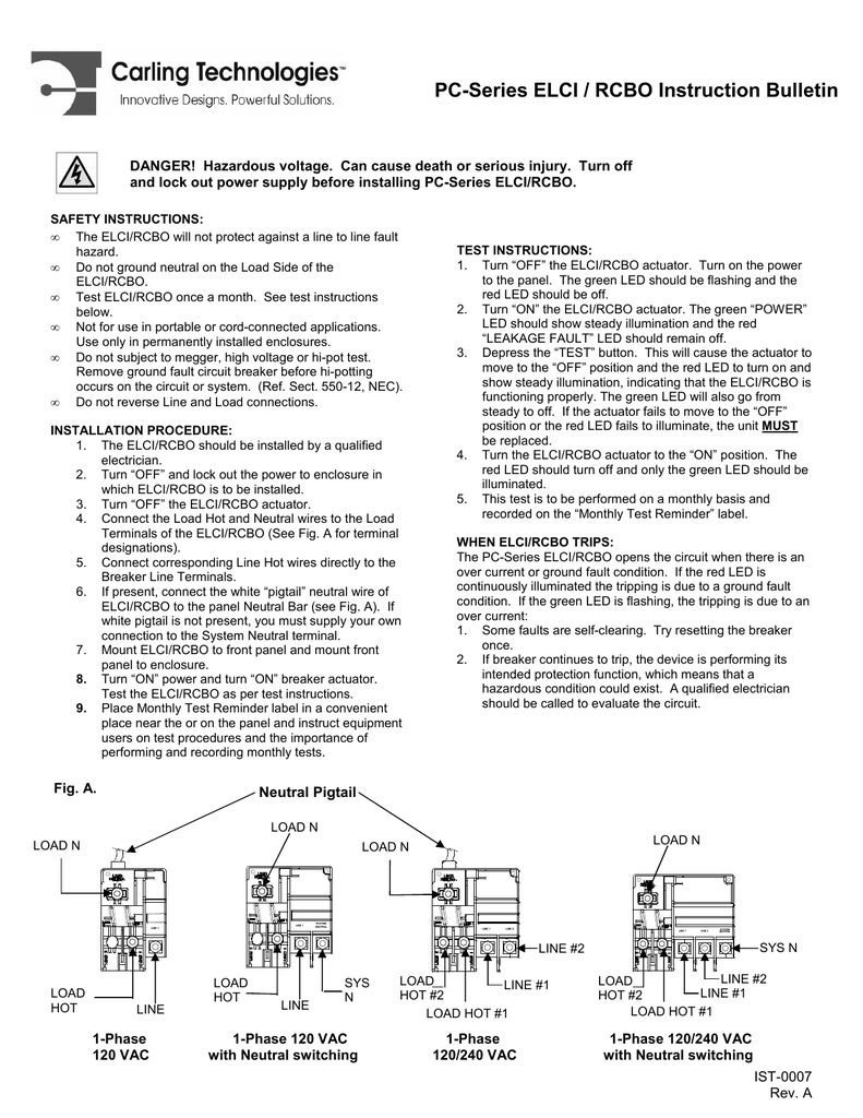 Instruction Blue Sea Systems Rcbo Wiring Diagram