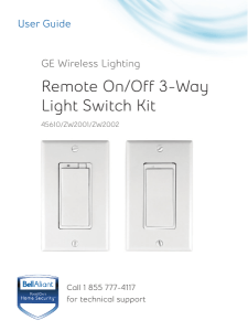 Remote On/Off 3-Way Light Switch Kit