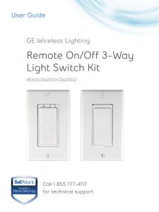 remote on/off 3-way light switch kit