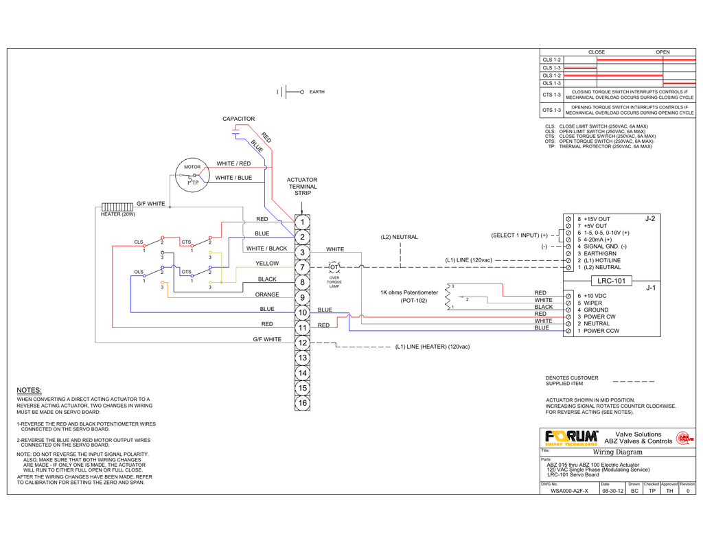 Actuator Wiring Diagram Another Blog About Auma Andco Linear Actuators 3118a Pdf