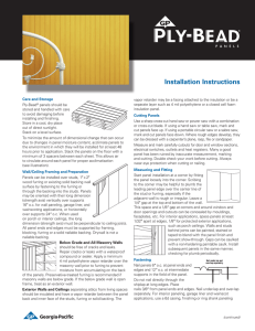 Ply-Bead® Panels Installation and Finishing Instructions