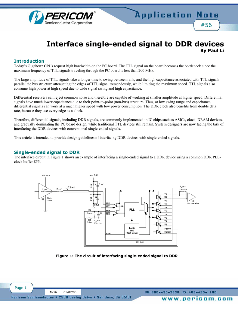 Interface single-ended signal to DDR devices