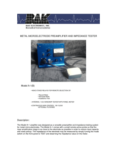Metal Microelectrode Preamplifier and