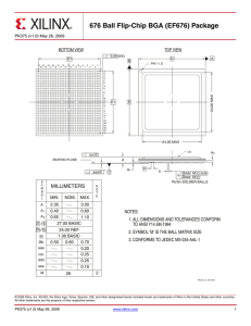 EF676 - Package Drawing (676 Ball Flip-Chip BGA)
