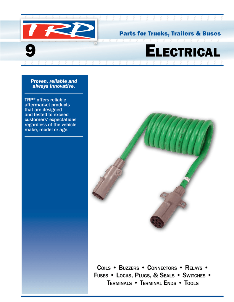 Trp Parts Catalog Electrical Chapter Peterbilt 357 Fuse Box