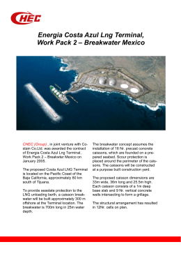 Energia Costa Azul Lng Terminal, Work Pack 2 – Breakwater Mexico