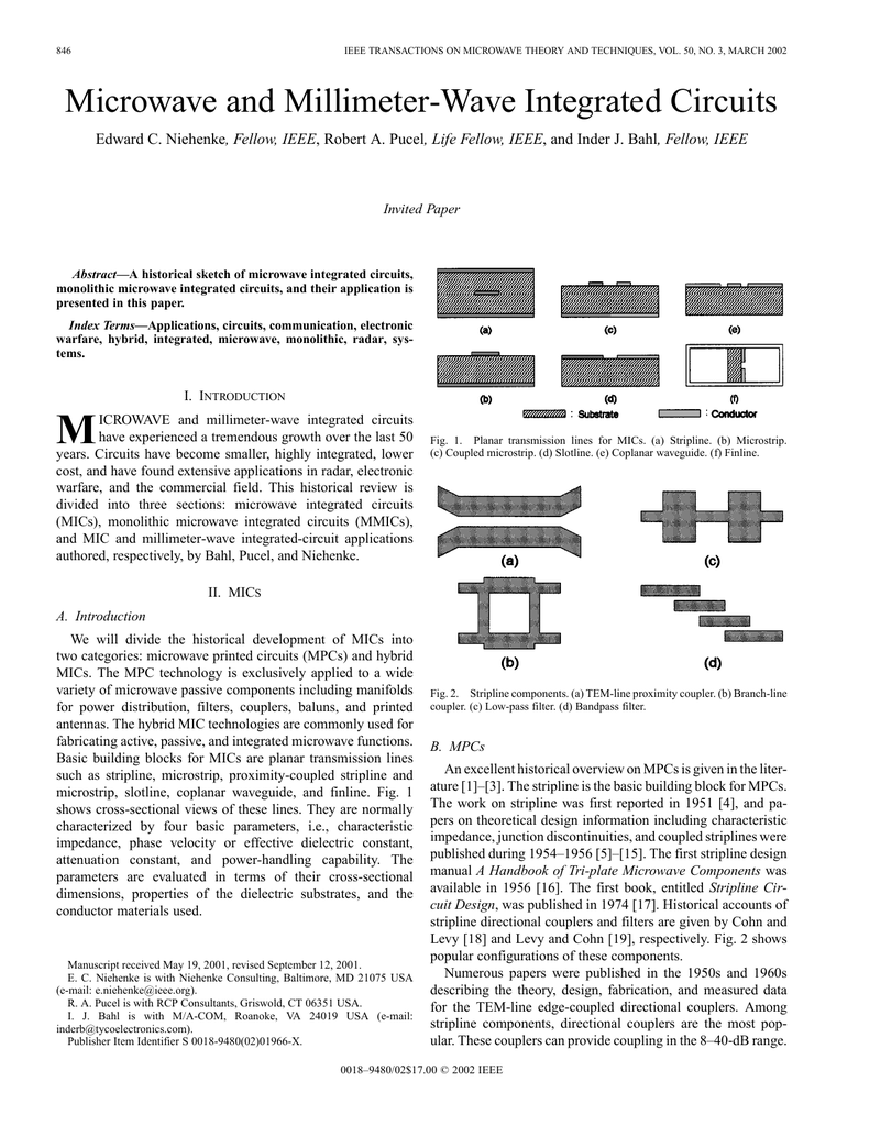 are based on microwaveintegratedcircuit micthinfilm circuitry newmicrowave and millimeter wave integrated circuitsare based on microwaveintegratedcircuit micthinfilm circuitry 9